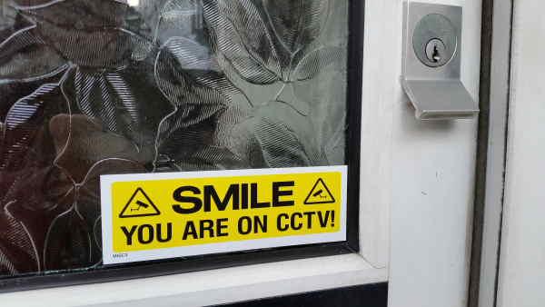 Door Warning Sticker
